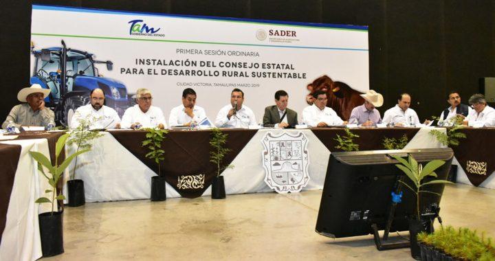 Sesiona el Consejo Estatal para el Desarrollo Rural Sustentable 2019