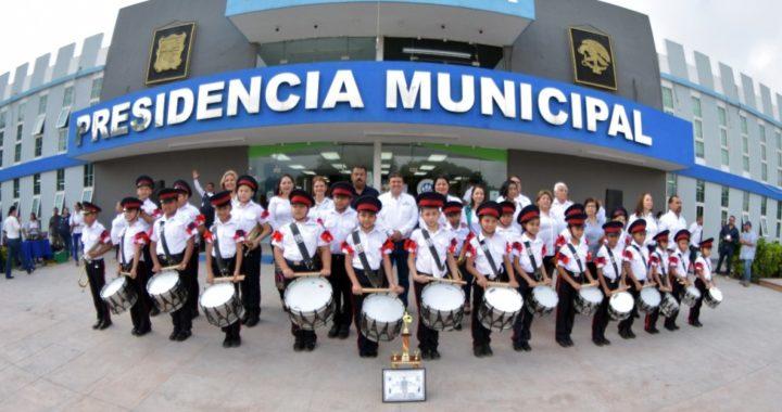 Obtiene Río Bravo primer lugar nacional en bandas de guerra