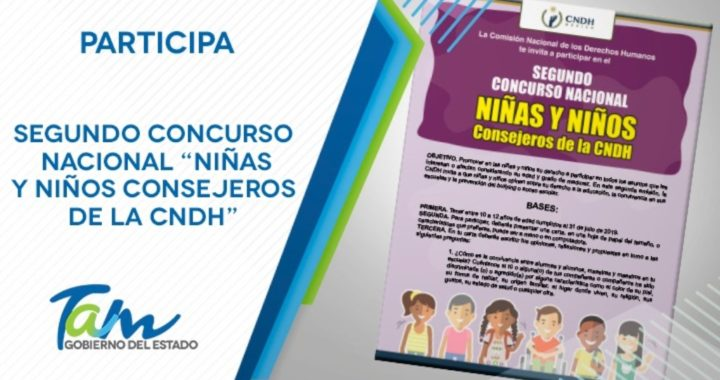 """Segundo Concurso Nacional """"Niñas y Niños Consejeros de la CNDH"""""""