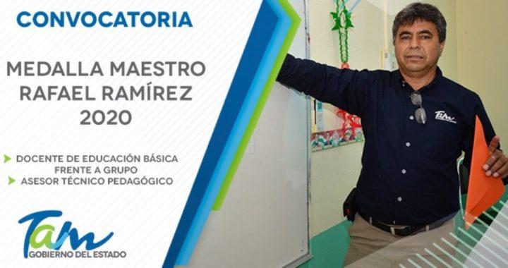 """Invitan a obtener la Medalla """"Maestro Rafael Ramírez"""" 2020"""