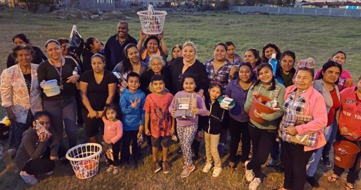 Visita Adriana Lozano a vecinos de la colonia Libertad y Progreso de Matamoros