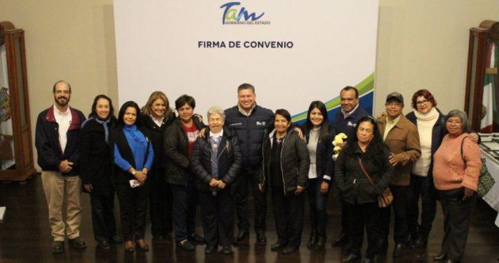 Firma convenio SEBIEN-DIF Tamaulipas y Organizaciones Civiles
