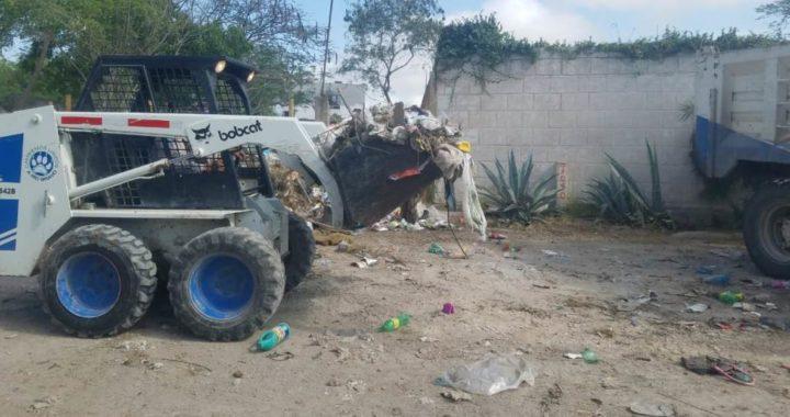 Trabaja Gobierno de Río Bravo en erradicación de basureros clandestinos