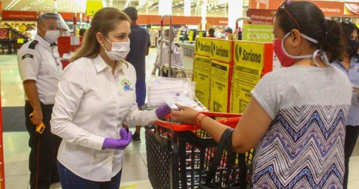 Entrega DIF Reynosa mil 500 cubrebocas