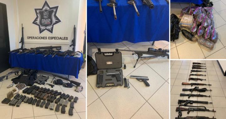 Asegura Policía Estatal casi 80 armas durante operativos permanentes desplegados en diversas regiones del Estado