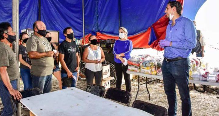 Voluntariado del DIF Reynosa entrega alimentos, comida y juguetes a familias cirquenses