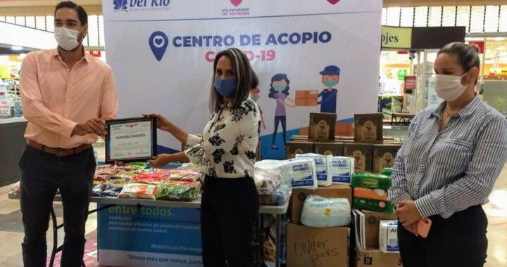 Voluntariado DIF Reynosa agradece al centro comercial Plaza del Río por la donación de alimentos no perecederos